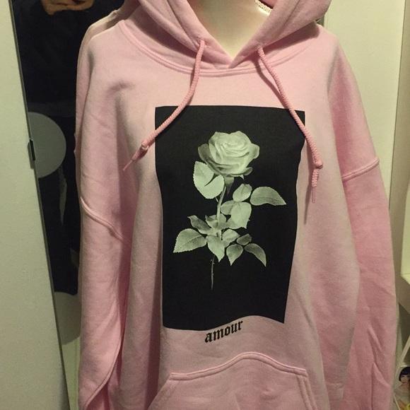 Artist Union Tops Pink Rose Hoodie By Poshmark
